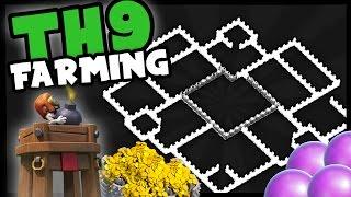 getlinkyoutube.com-Clash of Clans | TH9 Farming Base, Anti Barch | BOMB TOWER | TH9 TH 9