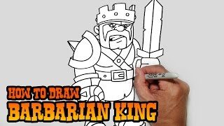 getlinkyoutube.com-How to Draw Barbarian King | Clash of Clans