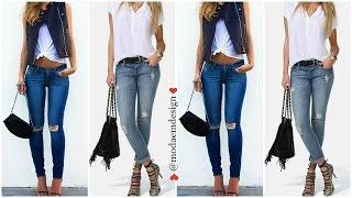 getlinkyoutube.com-MODA 2016 Outfits Con Pantalones de Mezclilla ♥ emdesign
