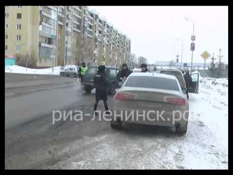 Полицейские Ленинска-Кузнецкого провели профилактическую акцию 'Ремень безопасности»