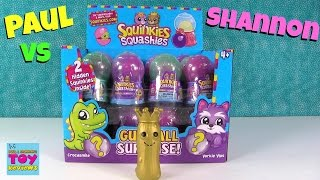 Paul vs Shannon Challenge Squinkies Edition Gumball Surprise Blind Bag Opening | PSToyReviews