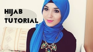 getlinkyoutube.com-Hijab Tutorial l Jersey scarf NABIILABEE
