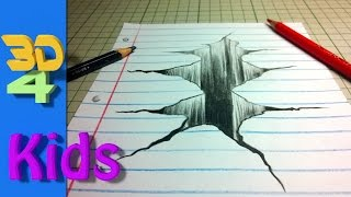 getlinkyoutube.com-How to draw a 3D hole in your paper step by step / #8