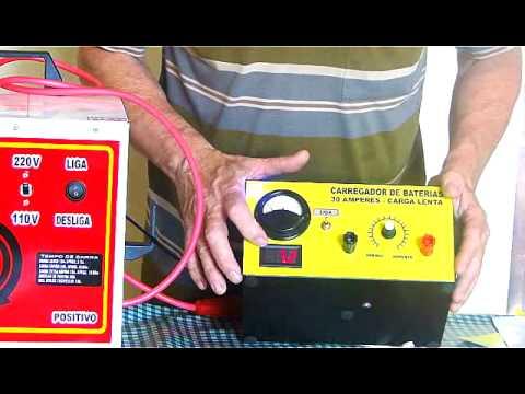 Carregador de baterias automotivo caseiro