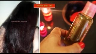 getlinkyoutube.com-Powerful Hair Oil to Grow Hair Long, Thick, Shiny & Black Hair