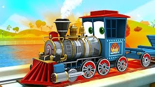 getlinkyoutube.com-appMink build a Steam Train - steam locomotive toy movies for children