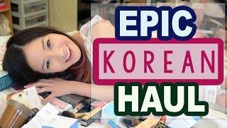 getlinkyoutube.com-BIGGEST KOREAN Makeup & Skincare Haul EVER!