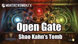 getlinkyoutube.com-Mortal Kombat X Open Gate - Shao Kahn's Tomb