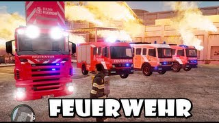 getlinkyoutube.com-GTA IV - Feuerwehr / German Fire dept responding to a structure fire