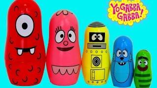 getlinkyoutube.com-YO GABBA GABBA NESTING DOLLS Play-Doh Surprise Toys | itsplaytime612
