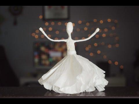 DIY: Bailarinas de guardanapo