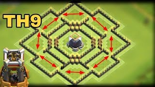 "getlinkyoutube.com-Best TH9 ""DARK ELIXIR"" FARMING BASE 