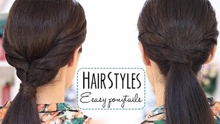 getlinkyoutube.com-Easy ponytails
