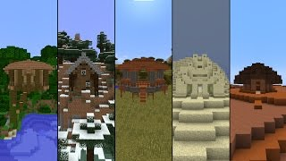 getlinkyoutube.com-5 Starter Houses in Minecraft!