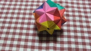 getlinkyoutube.com-パラパラ折り紙・2分割ユニット①(30枚組6色)