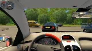 getlinkyoutube.com-City Car Driving   Gameplay   High speed driving with 206cc [1080p]