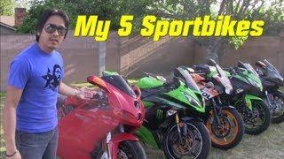 My Ducati Superbikes, 2 Kawasaki Ninja & Honda CBR 250R (Part 2 of 3)