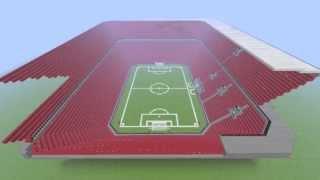 getlinkyoutube.com-Minecraft Time lapse | Football stadium