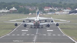 getlinkyoutube.com-Moving a worlds longest aircraft Boeing 747-8 and Antonov An-124