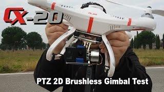 "getlinkyoutube.com-214 - Cheerson CX-20 GIMBAL TEST With ""PTZ 2D Brushless CNC Gimbal + SJ4000 Cam"" - [Sharp79]"