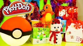 getlinkyoutube.com-Play Doh Pokemon Egg Toys Surprise Christmas Ornaments Playdough Videos DCTC Disney Cars Toy Club