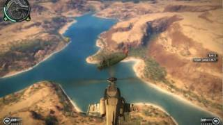 getlinkyoutube.com-Just Cause 2 PC Demo - Chopper Free Fall Into Another Chopper