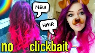 getlinkyoutube.com-NEW HAIR! (CUT OFF and colored): How to Color Hair!