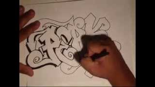 getlinkyoutube.com-Drawing Graffiti-(Requested)-(PERK) by wizard