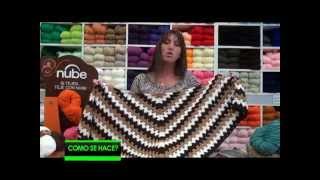 getlinkyoutube.com-Chals en crochet con  3 COLORES