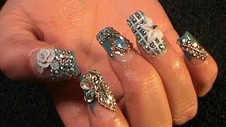 getlinkyoutube.com-Uñas Estilo Sinaloa - Winter Bling Nails