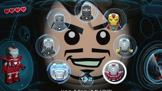 LEGO Marvel's Avengers (Vita) - All Playable Iron Man Suits Unlocked