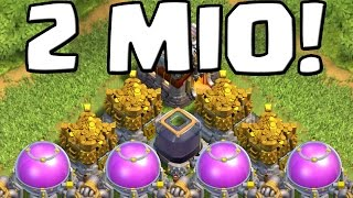 getlinkyoutube.com-2 MIO LOOT! || CLASH OF CLANS || Let's Play Clash of Clans [Android iOS PC]