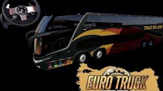getlinkyoutube.com-Euro truck simulator 2 - 1.16,  Mod onibus G7 1800, jogando com o logitech G27.