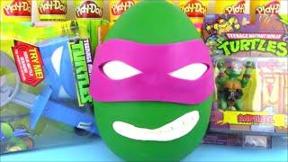 getlinkyoutube.com-TMNT Donatello Giant Surprise Egg Ninja Turtle Toys