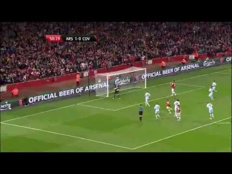 Arsenal 6-1 Coventry City | 9-26-12 | Capital One Cup | Match Highlights