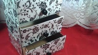 getlinkyoutube.com-DIY : Cajonera/Organizador reciclando cajas