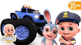 Car Videos | Monster Trucks  | Vehicle Song | Nursery Rhymes Compilation from Jugnu Kids