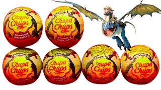 getlinkyoutube.com-How to train your Dragon Chupa Chups surprise eggs unboxing Comment former vos oeufs surprise dragon