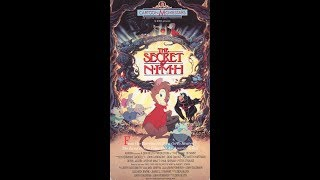 Opening And Closing To The Secret Of NIMH 1990 VHS