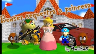 getlinkyoutube.com-Super Mario 64 Bloopers: Bowser sequestra a princesa