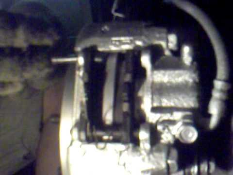 Замена заднего тормозного диска и установка колодок  н