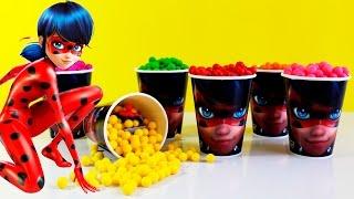 getlinkyoutube.com-Miraculous Ladybug Copos Surpresas - Aventuras de Ladybug em Portugues