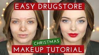 getlinkyoutube.com-DRUGSTORE Easy Christmas Makeup Tutorial // MyPaleSkin