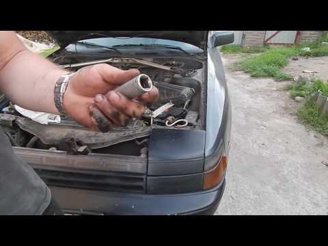 Замена робочего цилиндра сцепления на авто Toyota Celica T16