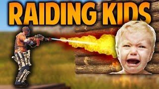 getlinkyoutube.com-Rust - RAIDING KIDS - (Rust Raids & PvP)