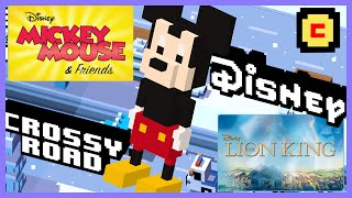 getlinkyoutube.com-DISNEY CROSSY ROAD Characters & Review | Mickey, Donald, Lion King's Simba?! Gameplay