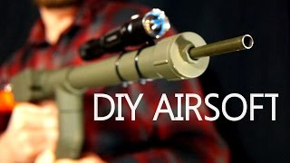 getlinkyoutube.com-How To Make A BB Machine Gun For $5 - Easy Hand Powered Airsoft Gun