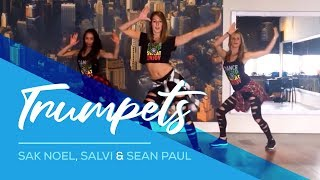 getlinkyoutube.com-Trumpets - Sak Noel & Salvi - ft Sean Paul - Easy Fitness Dance Choreography