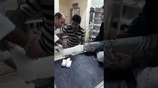 Broken leg hurts