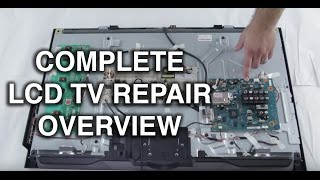 getlinkyoutube.com-LCD TV Repair Tutorial - LCD TV Parts Overview, Common Symptoms & Solutions - How to Fix LCD TVs